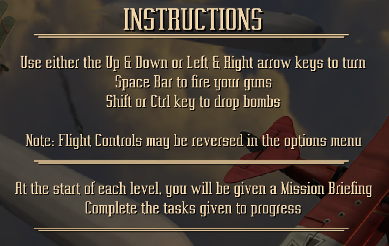 Controls and instructions